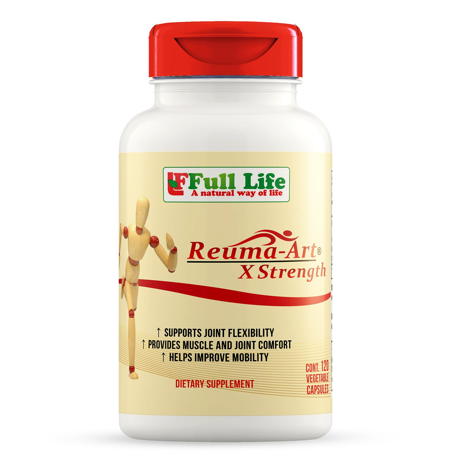 Full Life Reuma-Art X Strength Joint Mobility & Flexibility, 120 Caps by Full Life
