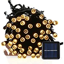 Amazon firstlights christmas solar string lights by 39 feet firstlights christmas solar string lights by 39 feet 100 warm white led fairy lights aloadofball Image collections