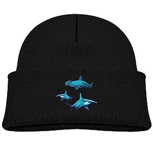 Blue Hammerhead Shark Winter Beanie Cap 0-3 Old Baby Boy Infant Knit Hat