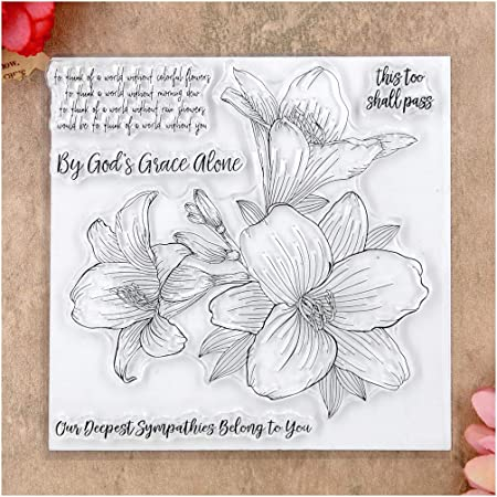 KWELLAM Flowers this too shall pass Clear Stamps for Card Making Decoration and DIY Scrapbooking