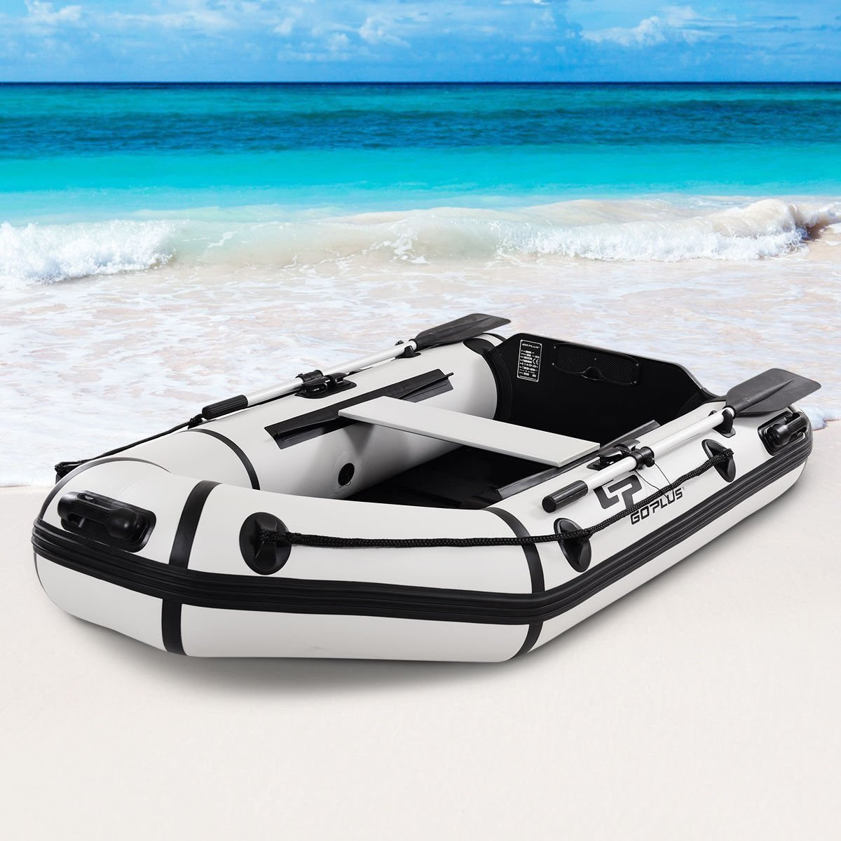 Amazon com : Goplus 2 or 4-Person Inflatable Dinghy Boat