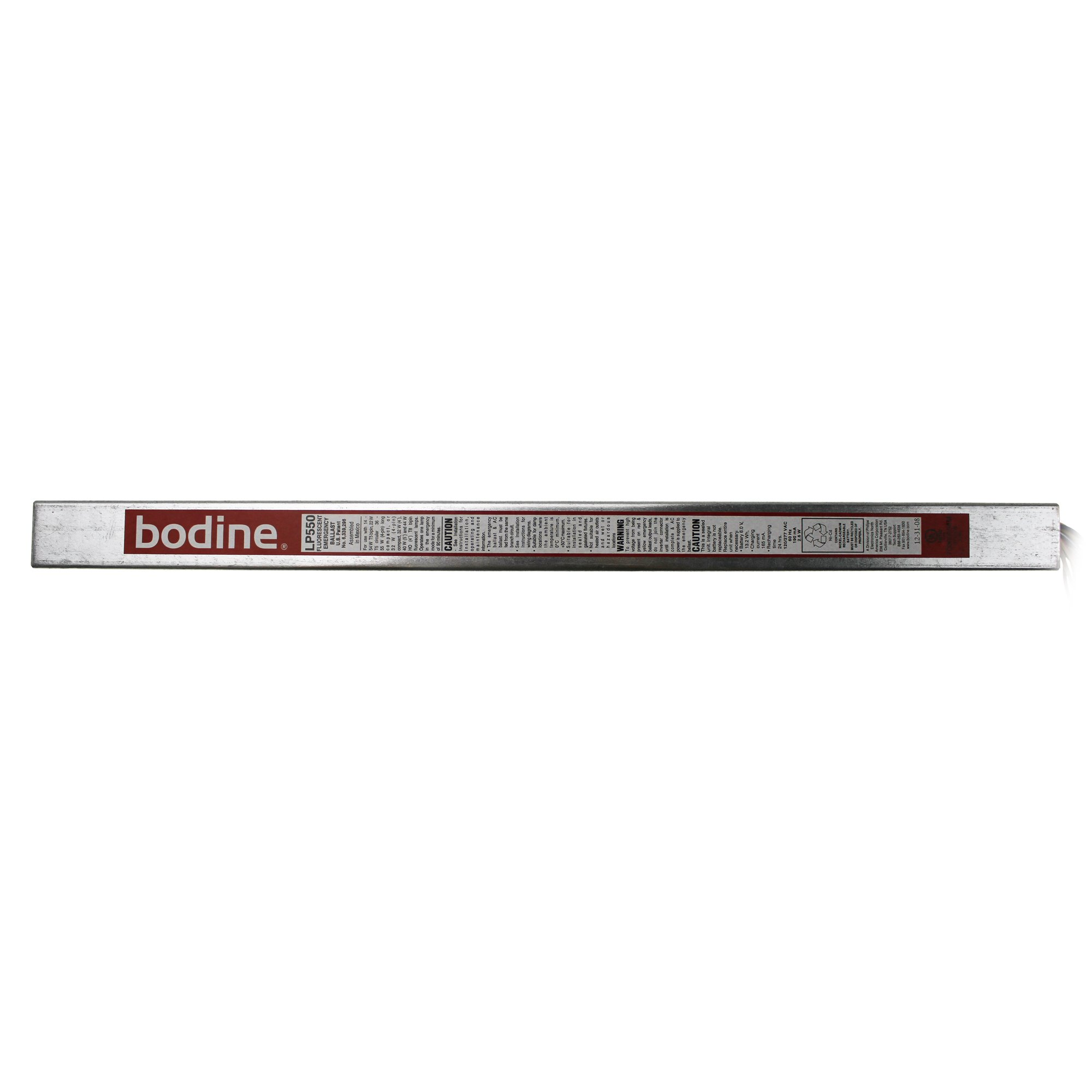 Bodine LP550 (1) HO T5 and T8 Lamps Lamp Low Profile Fluorescent Emergency Lighting Ballast 120/277 Volt AC