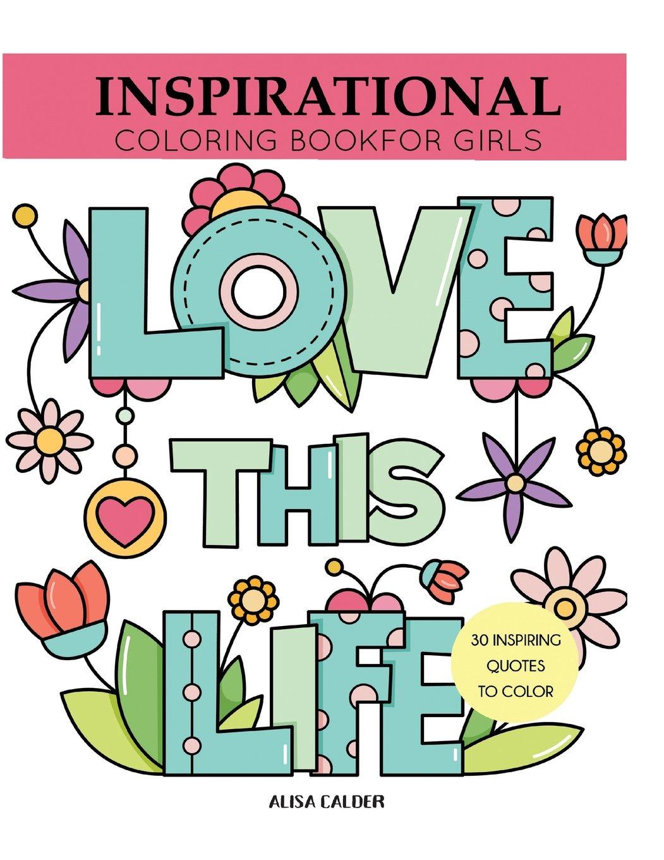 Inspirational Coloring Book Girls Inspiring product image