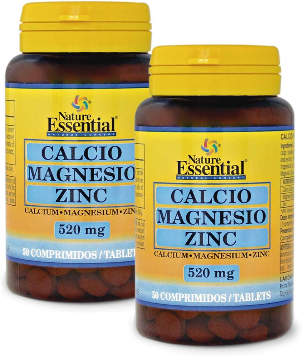 Calcio, magnesio y zinc 520 mg. 50 comprimidos (Pack 2 unid ...