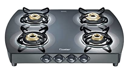 Prestige Premia GTS 4 Glass Top Stove Silver Amazon Home