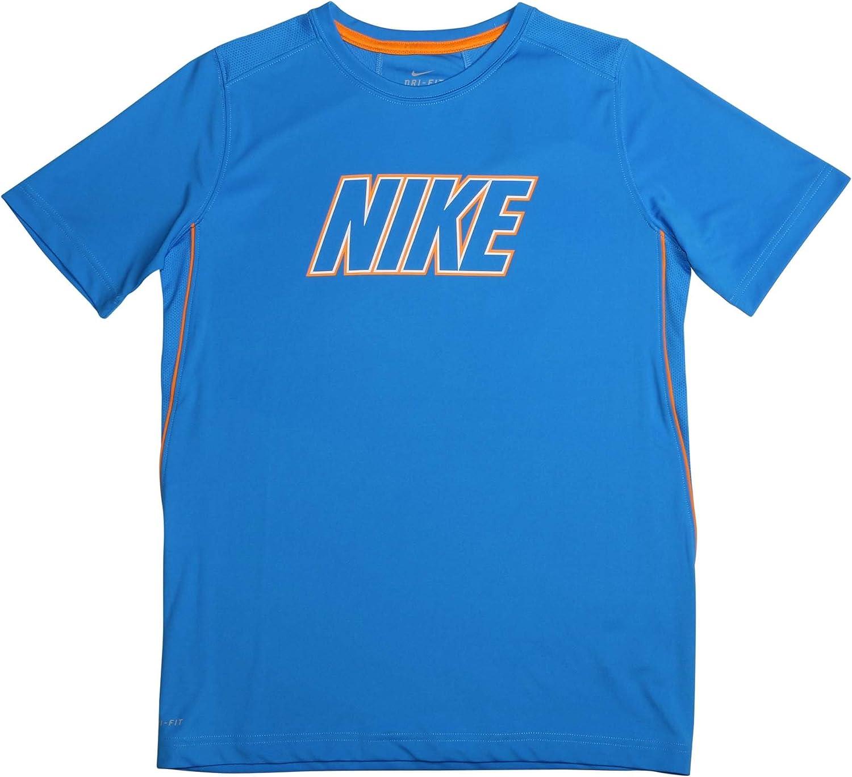 NIKE Boys Youth Dri Fit Legacy T Shirt Tee Blue Size Medium M