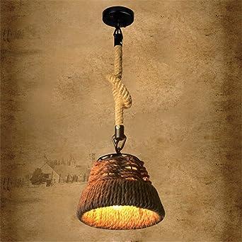 ShengYe Lámpara colgante de techo estilo rústico Lámpara de ...