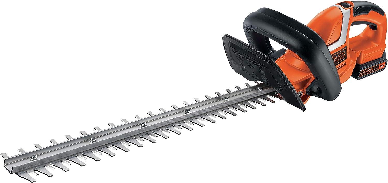 BLACK+DECKER GTC1845L20-QW - Cortasetos 18V con batería litio de 2Ah, espada de 45 cm