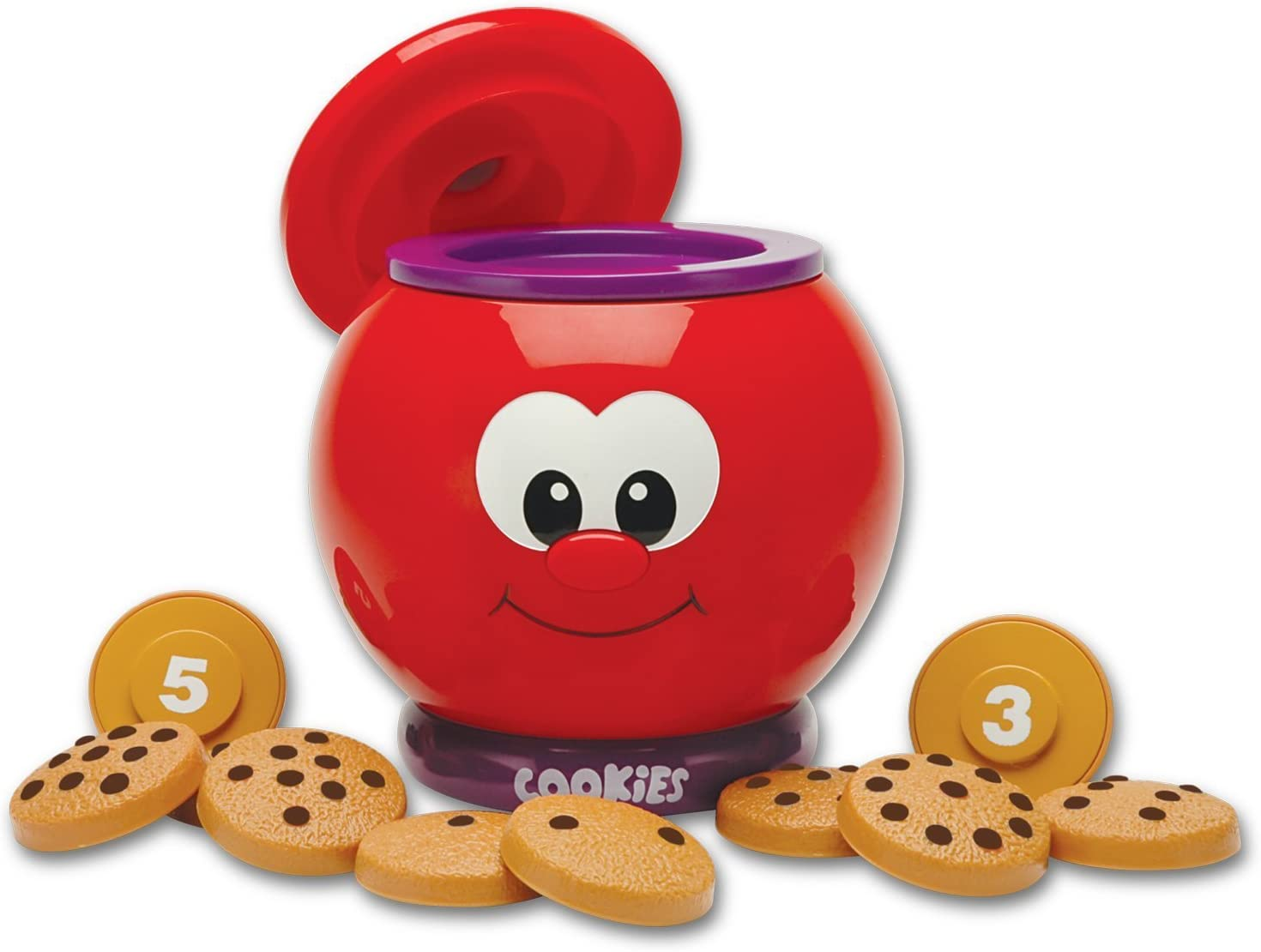 The Learning Journey Learn With Me – Count & Learn Cookie Jar – Counting and Numbers STEM Teaching Toddler Toys & Gifts for Boys & Girls Ages 2 Years and Up – Award Winning Preschool Learning Toy
