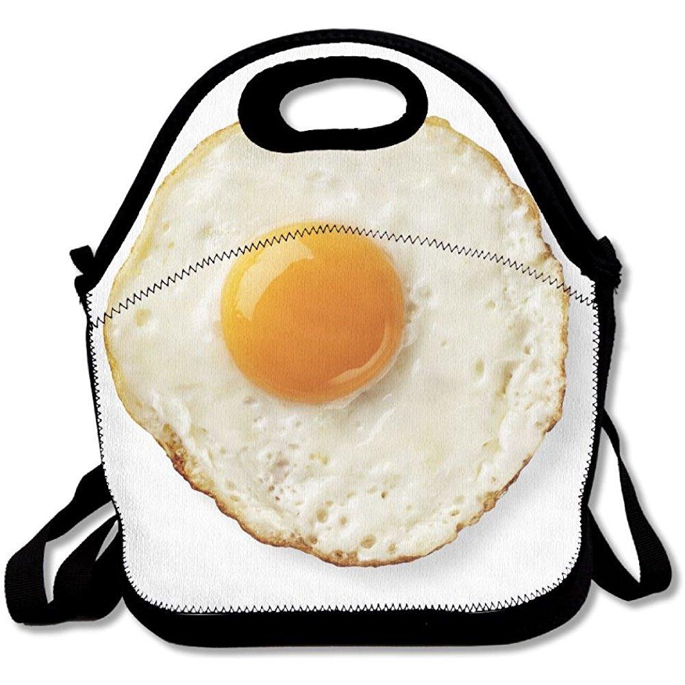 staropor Fried Egg isolated新しいLunch Toteランチバッグアウトドアピクニック中規模   B07DH66F9K