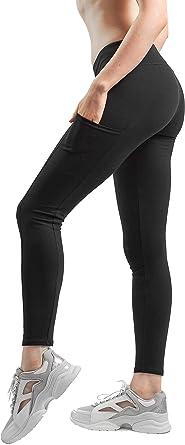 Sheebo - Leggings clásicos de algodón y Licra para Mujer - Negro - Large: Amazon.es: Ropa y accesorios