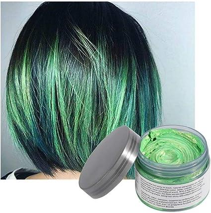 Coloración del cabello Cera Desechable Peinado mate instantáneo Crema de barro Pomadas para el cabello para niños Hombres Mujeres Cosplay Cosplay ...