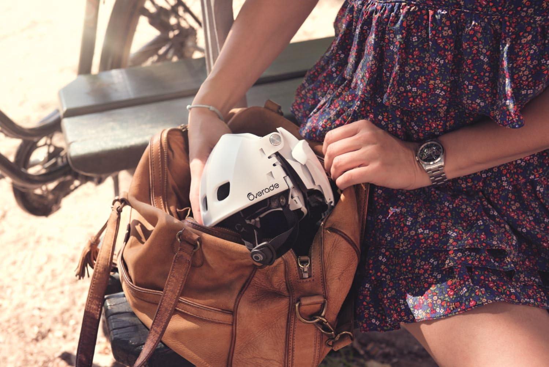 Overade Casco da bicicletta pieghevole