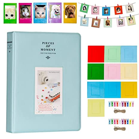 Wall Hanging Photo Album with 6 Slip-in Pockets for Polaroid Fujifilm Camera
