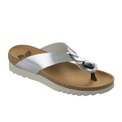 Scholl Glam Ss1 Womens Silver Synthetic Sandal