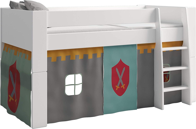 Steens - Tienda de campaña Infantil, diseño de Castillo, Color Gris