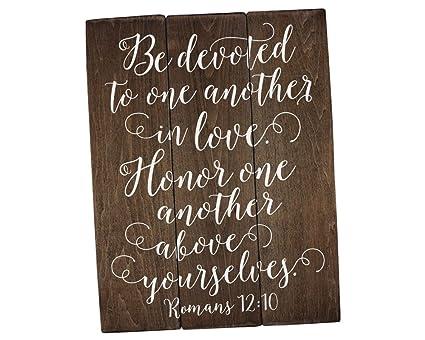Amazon Com Sincerely Sunshine Romans 12 10 Bible Verse Wall Art