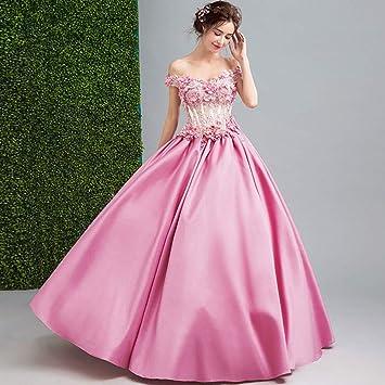 best website 3e188 a6791 WFL Rosa Braut One-Shoulder-Hochzeit Kleid Toast Kleidung ...