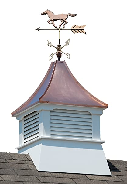 Amazoncom Accentua Olympia Cupola With Horse Weathervane 24 In