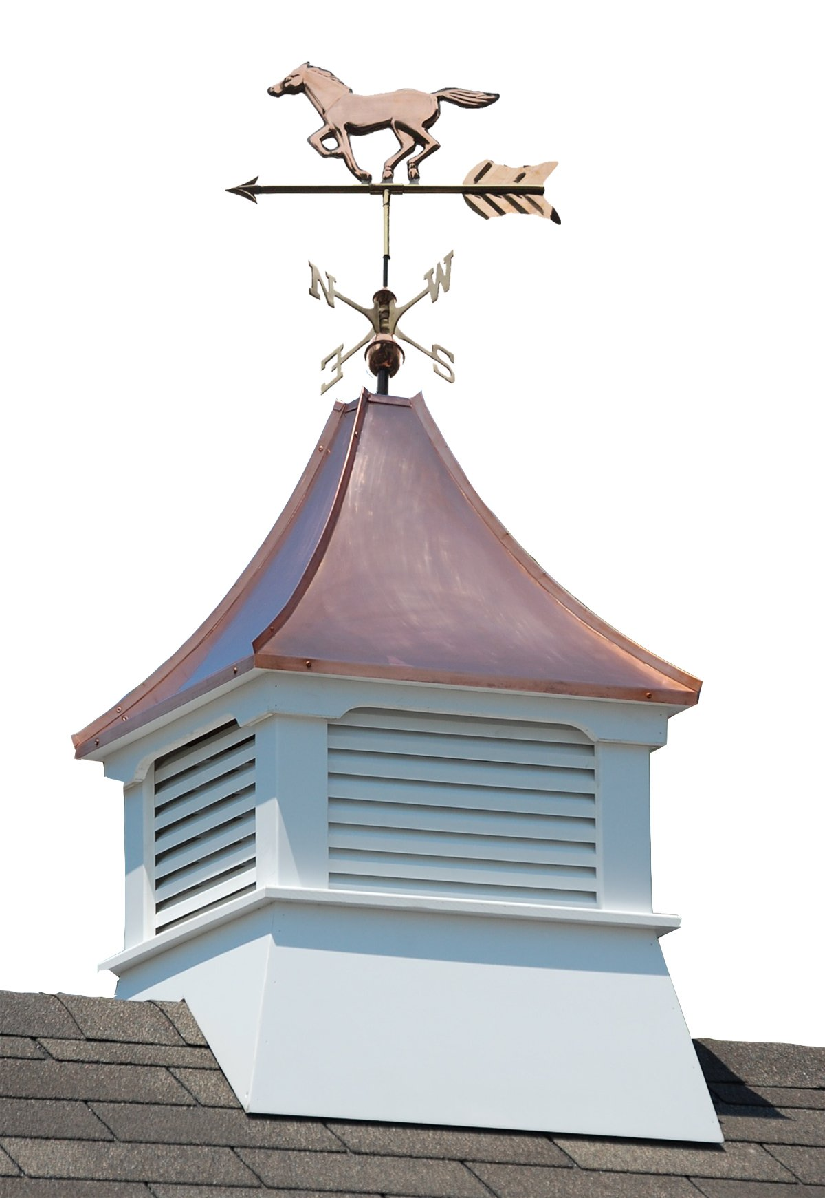 Accentua Olympia Cupola with Horse Weathervane by Accentua