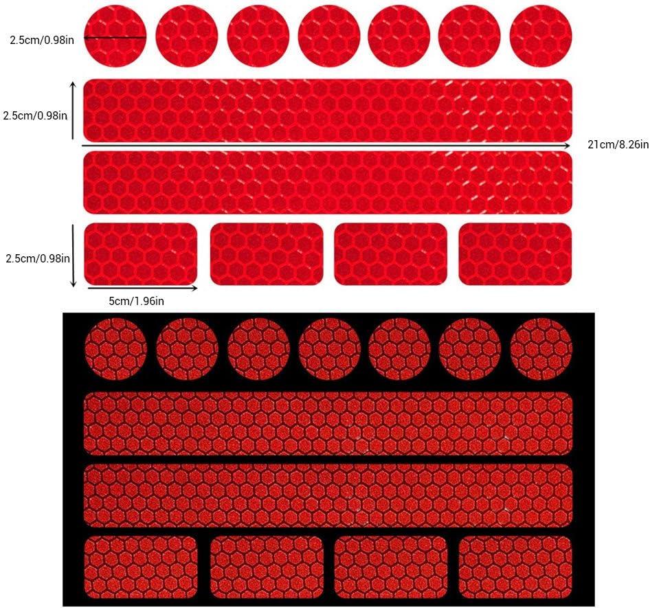 Kinderwagen 13 teiliges Reflektor Set selbstklebend und hochreflektierend,3er Set Reflektoren selbstklebend Aufkleber f/ür Kinder