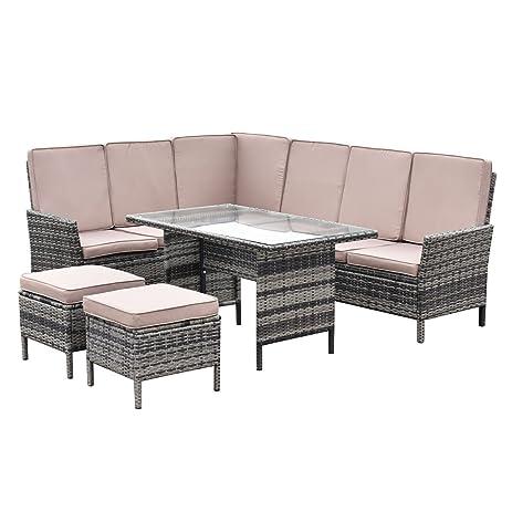 Amazon Tangkula 5 PCS Wicker Furniture Set Patio Outdoor