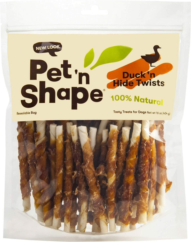 Pet 'n Shape Duck Hide Twists Dog Treats, 16 Ounces, 6 Pack by Pet 'n Shape