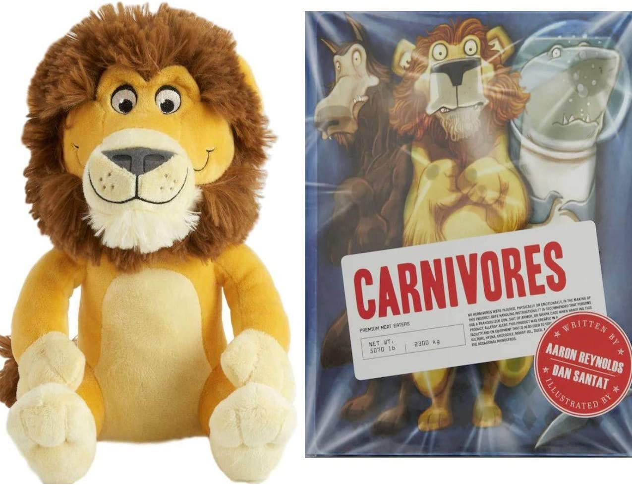 KOHLS CARE Plush Lion Toy and Carnivores Book Bedtime Story Book for Kids Bundle