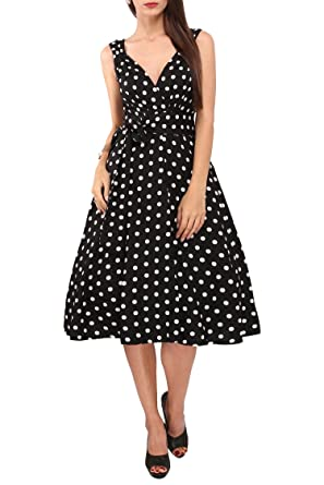 Women\'s Dress 40s 50s Swing Vintage Rockabilly Ladies Retro Prom Party Plus  Size Dresses