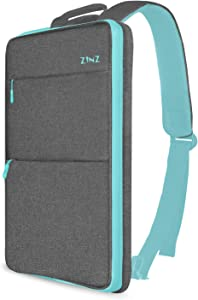 Slim & Expandable Laptop Backpack 15 15.6 16 Inch Sleeve with USB Port, Spill-Resistant Notebooks Bag Case for Most 14-16 Inch MacBooks Surface-Books Dell HP Lenovo Asus Computers, Light Gray