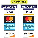 Amazon.com: Visa/MC/Disco/AMEX calcomanía, pequeño: Automotive