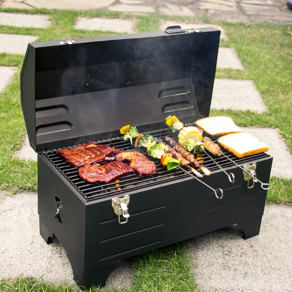 YECUI Portable Charcoal Grill Car Outdoor Barbecue Camping Outdoor Wood Carbon Oven Oven Household Small BBQ No Need to Install Simple and Practical Car-Mounted Oven