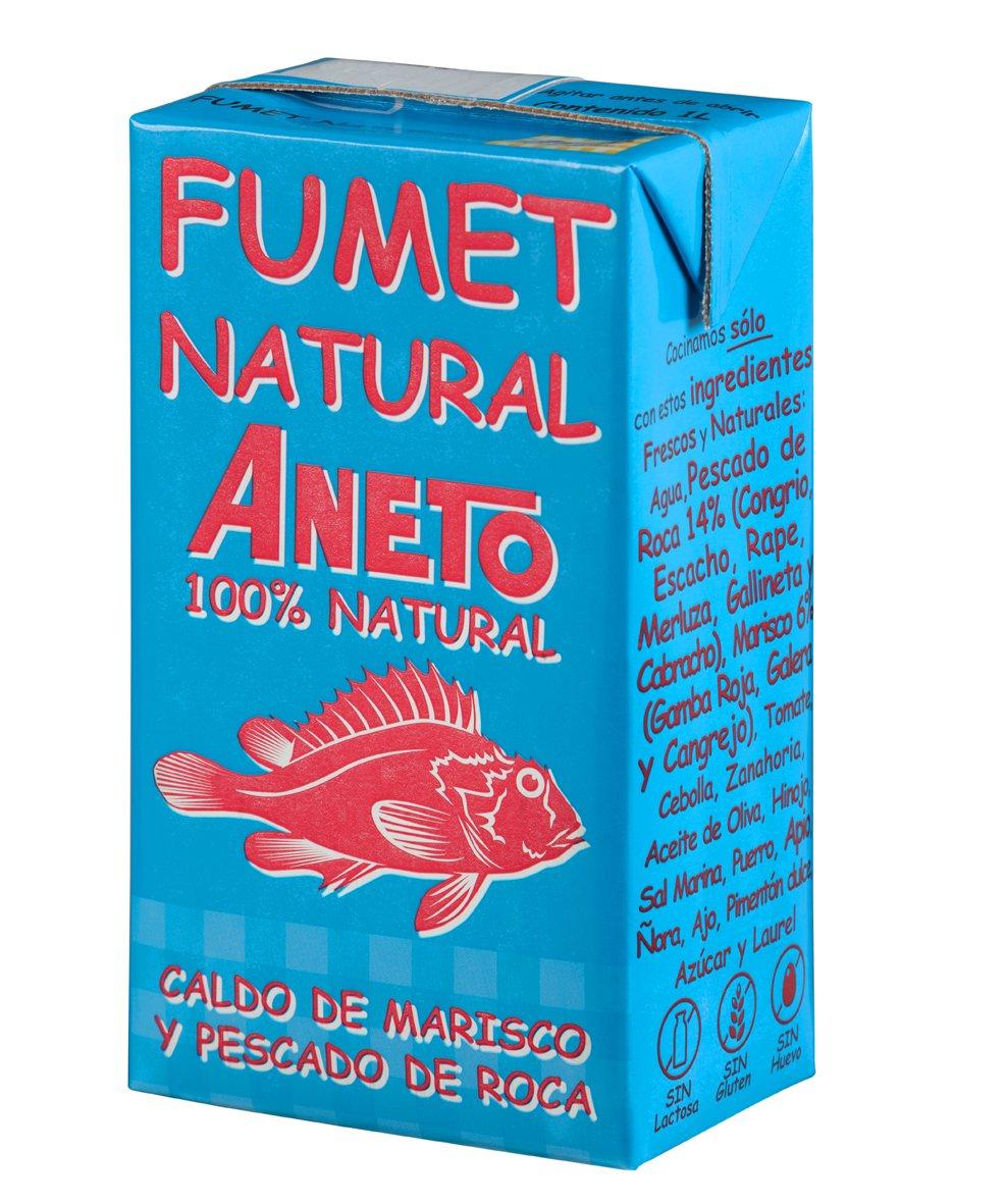 Aneto 100% Natural - Fumet de pescado y marisco - caja de 6 ...