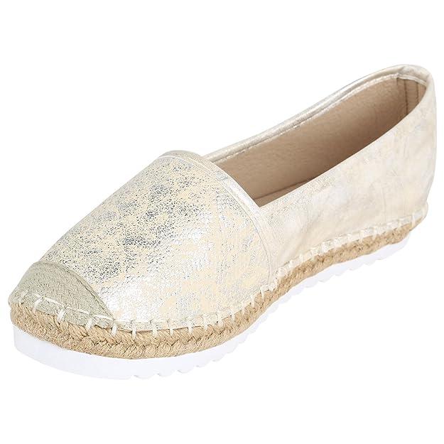 13f205d81c9fc3 Stiefelparadies Damen Slippers Espadrilles mit Plateau Bast Glitzer Flandell   Amazon.de  Schuhe   Handtaschen