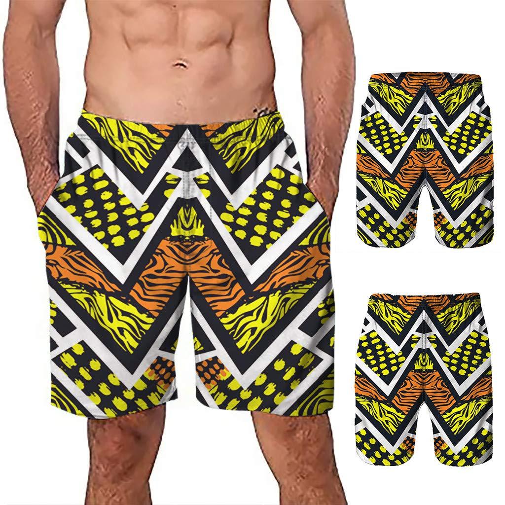 NUWFOR Men Casual 3D Graffiti Printed Beach Work Casual Men Short Trouser Shorts Pants(Z5-Multi Color,US:S Waist26.0-29.9'') by NUWFOR (Image #2)