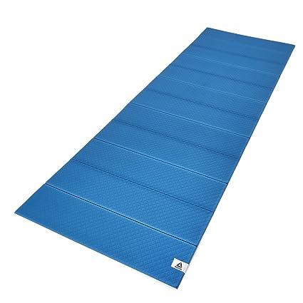 Amazon.com : Reebok Folded Yoga Mat, Blue/Black, 6mm ...