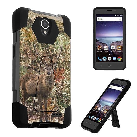 premium selection a3633 32df8 ZTE Prestige 2 Case, ZTE ZFive 2 LTE Case, DuroCase Transforma Kickstand  Bumper Case for ZTE Prestige2 N9136 / ZTE ZFive2 LTE Z836BL Z837VL -  (Hunter ...