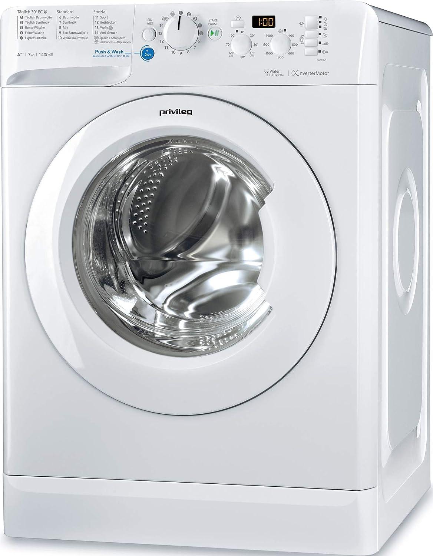 Privileg PWF X 743 Waschmaschine Frontlader / A+++ / 1400 UpM / 7 kg /Mengenautomatik/Startzeitvorwahl/Maschinenreinigung/Inverter Motor/Wasserschutz/Antiflecken-Option/Bügelleicht-Option/Daunen: Amazon.de: Elektro-Großgeräte - Privileg Waschmaschine