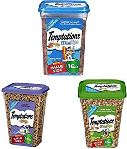 Temptations Cat Treats Variety Bundle, (3) 16 Oz. Tubs