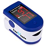 Zacurate Fingertip Pulse Oximeter Blood Oxygen Saturation Monitor with Batteries & Lanyard Included (Sapphire Blue) (Color: Sapphire Blue)