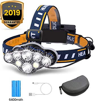 7 LED Superbright Headtorch Camping//Hiking//Car