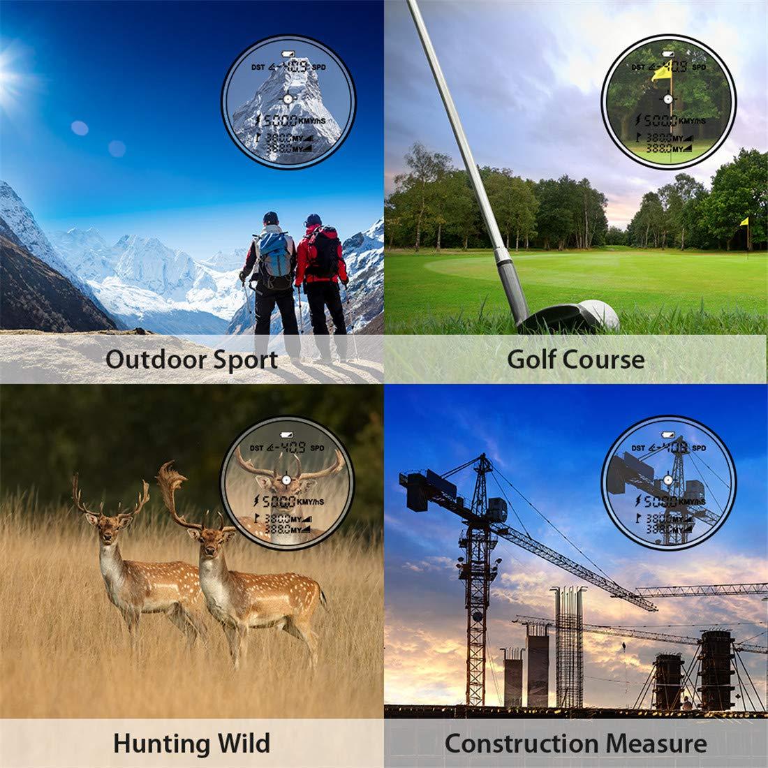 Laser Rangefinder,Zamkol 1000 yards Golf Rangefinder,IP54 Laser Binoculars For Hunting,Multi-Function Hunting Rangefinder with Speed /Vertical Height/Angle /Horizontal Distance Measurement