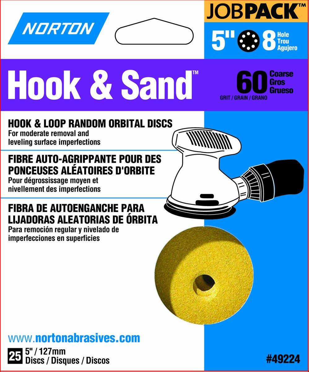 Norton Co 60 Grit 5 in 5 In 49224 Norton Hook And Loop Sanding Disc