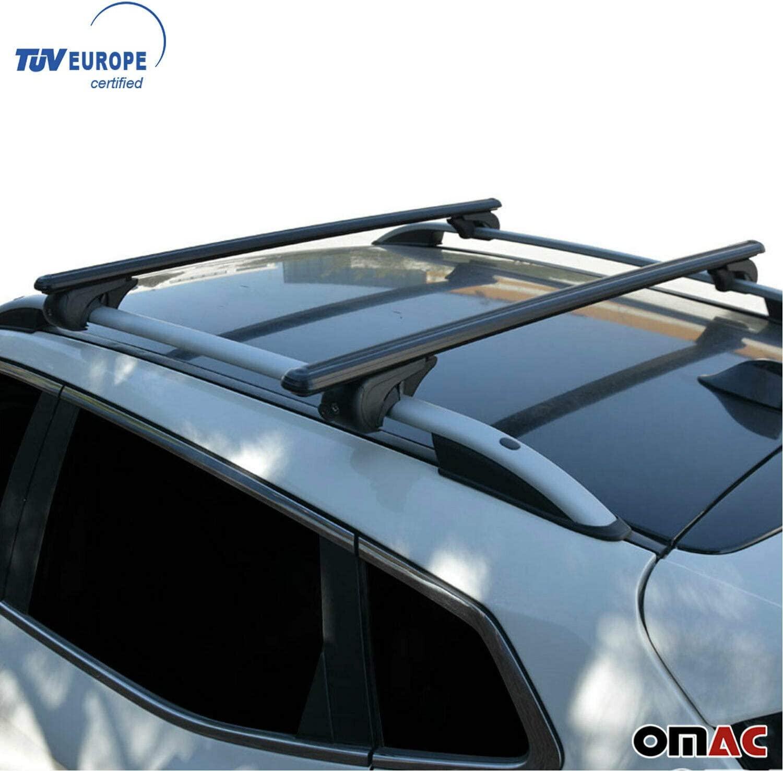 UDP 2Pcs Fits for Mini Countryman 2011-2020 Adjustable Crossbar Cross bar Roof Rail Luggage Cargo Carrier Lockable Roof Rack Bar Silver