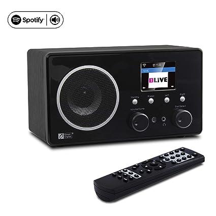 Ocean Digital Internet Radio WiFi Music Player WR282CD - Spotify FM Radios  Antenna Tuner, Airmusic Control APP, Digital Speaker with 3 5mm Aux-in -