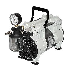 Welch Vacuum 2567B-50 Standard Duty Dry Vacuum Pump, 2-Head, 100 LPM, 60 Torr, 115V