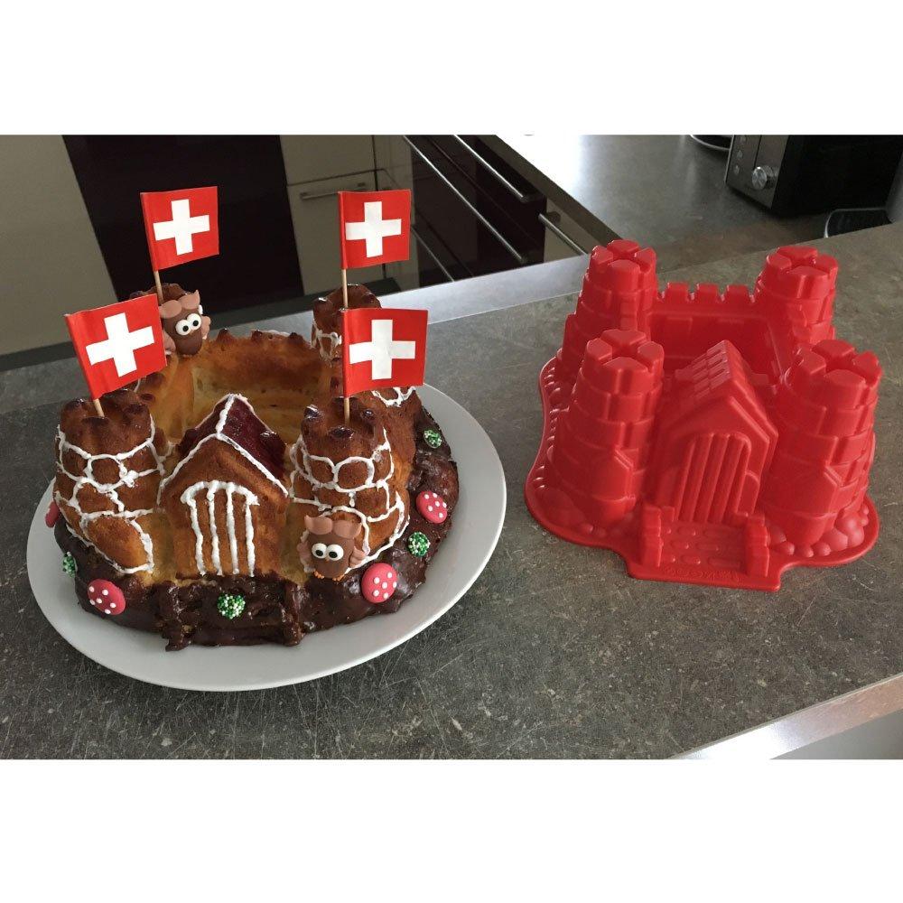 Silikon Form Modell Ritterburg Schloss Geeignet Zum Backen Von
