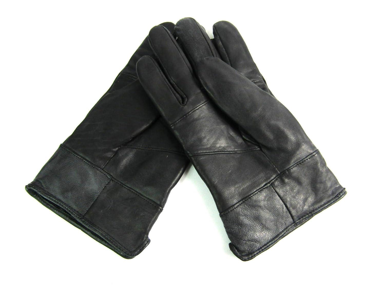 Leather Emporium Herren Neue schwarzes weiches Leder Fahrhandschuhe