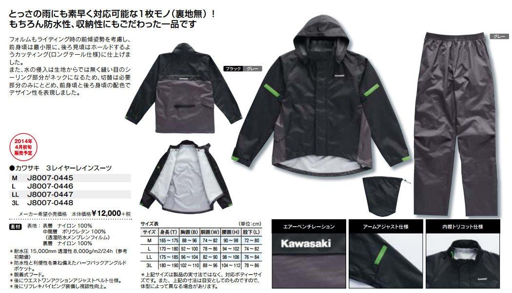 Kawasaki (Kawasaki accesorios originales) Kawasaki 3 traje ...