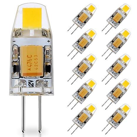 Lampadine Led G4 12v.Jauhofogei 10 Pack G4 Led Bulb 12v Ac Dc 10w Glass Halogen